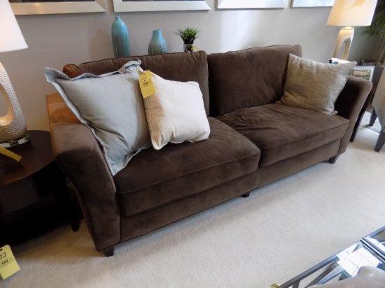 2 Cushion sofa with accent pillows