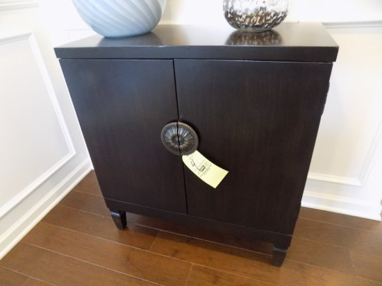 Dark finish 2 door cabinet