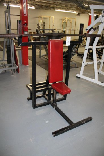 Adjustable Shoulder Press Rack With Bar