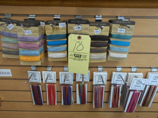 Assortment of cording including Hemp and Vergata