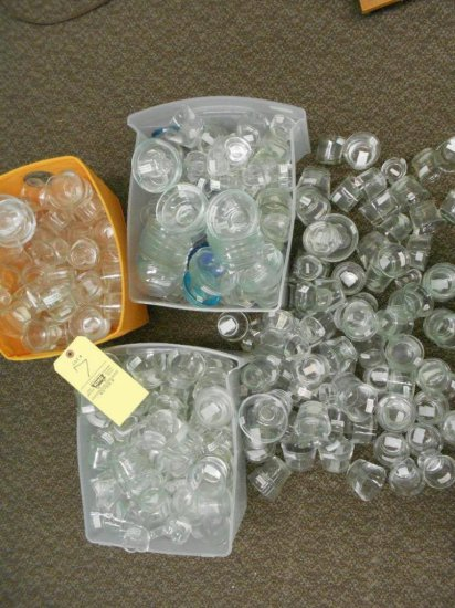 Assortment of glass bowls, votives