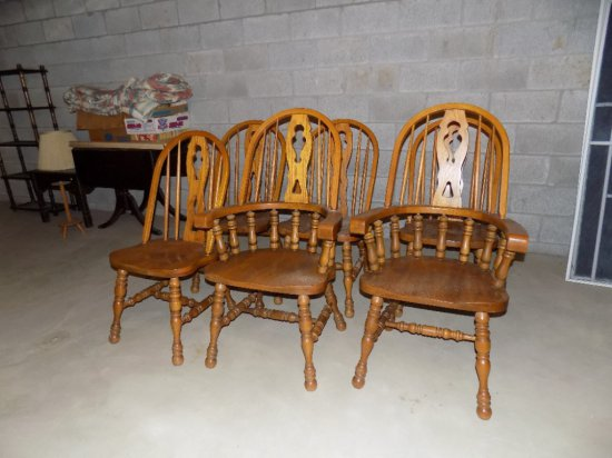 (6) Oak chairs
