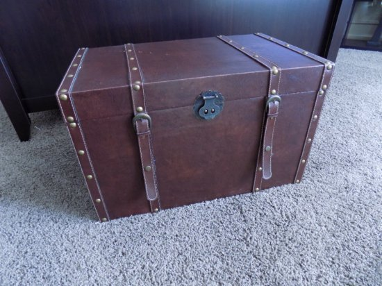 Leather Style Lift Top Trunk
