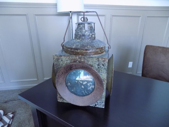 Metal 4 Sided Lantern Style Candle Holder