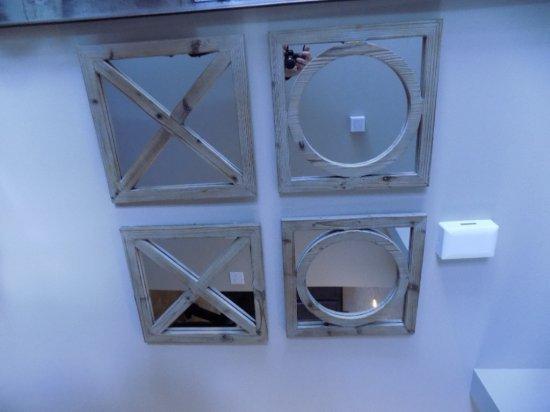 (4) Wood Framed Mirrors