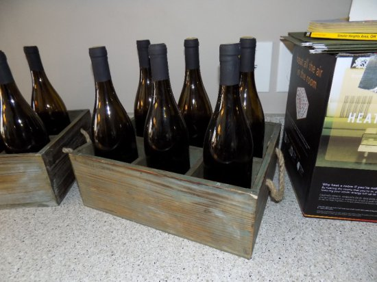Crate With Decor Bottles