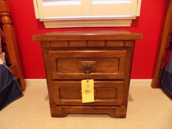 Link-Taylor two-drawer night stand