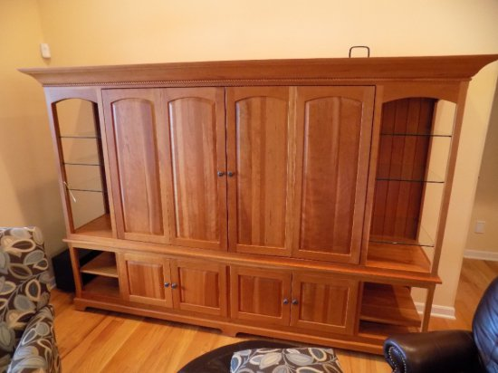 Cherry Amish-made entertainment center