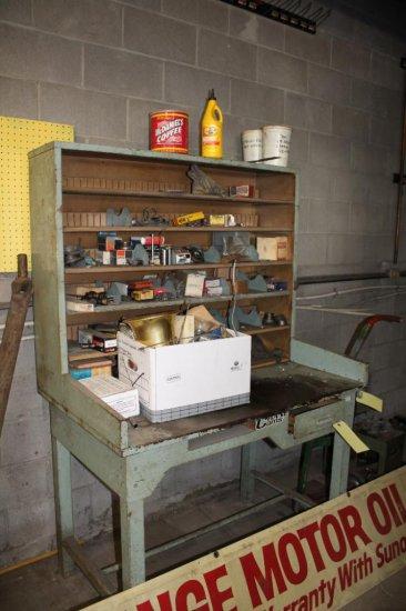 4' Formans Desk w/ Assorted Bearings & Hardware