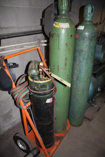 Solid Tire Torch Cart & Gauges