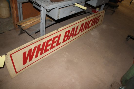 8' Metal Wheel Balancing & A/C Service Double-Sided Sign