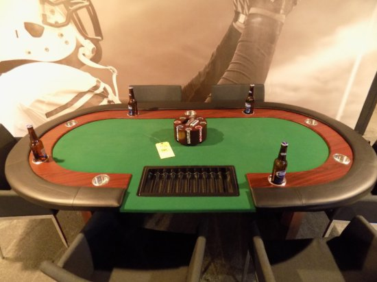 Poker table with 6 upholstered chairs