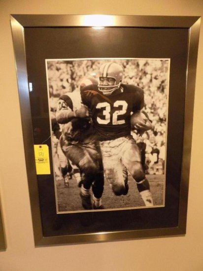 Jim Brown silver framed picture