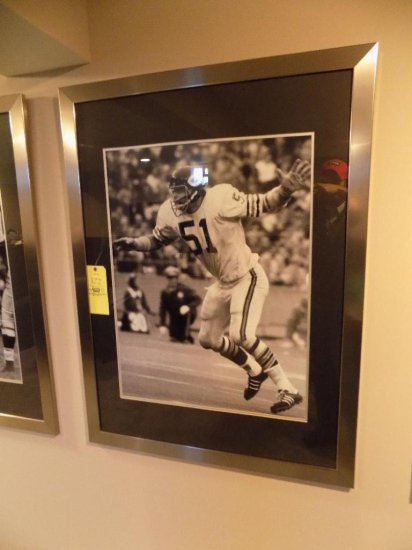 Dick Butkus silver framed photo