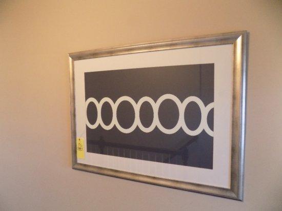Silver framed decor print