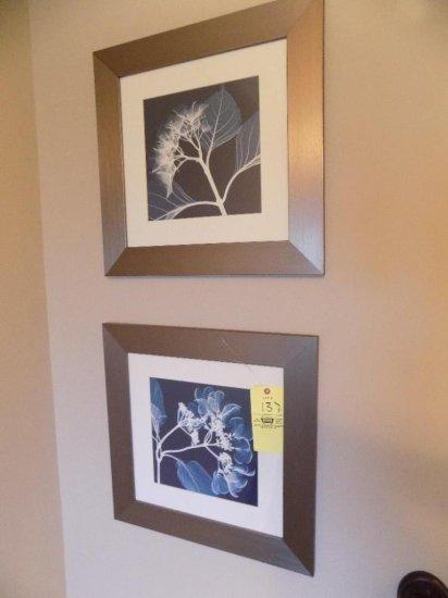 Pair of floral prints