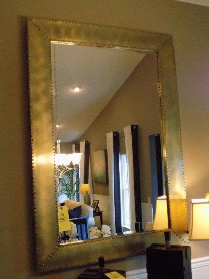 Metal trim mirror