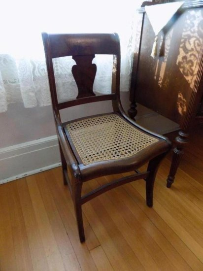 (6) Cane seat chairs