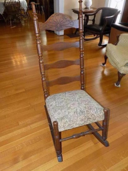 Upholstered seat rocking chair