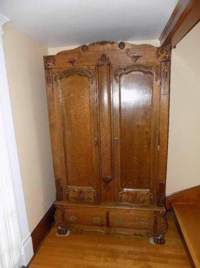 Oak knock down wardrobe