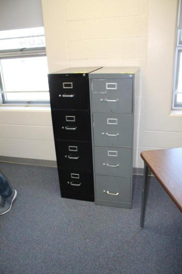 Two 4-Drawer File Cabinets
