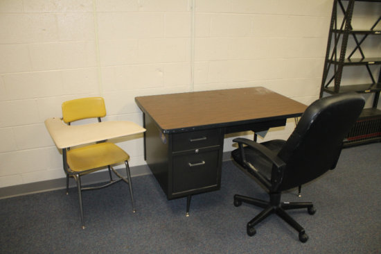 Teachers and Student Desk with Chair
