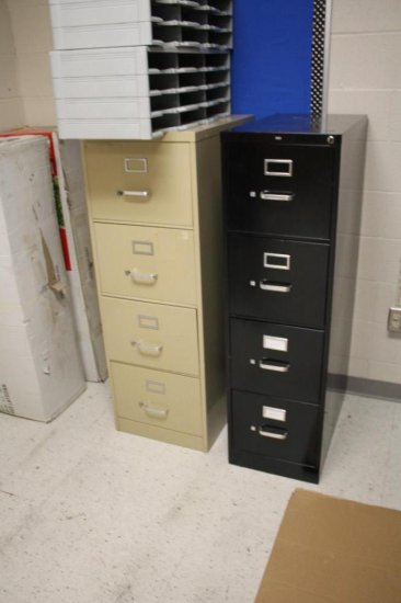 Four 4-Drawer File Cabinets
