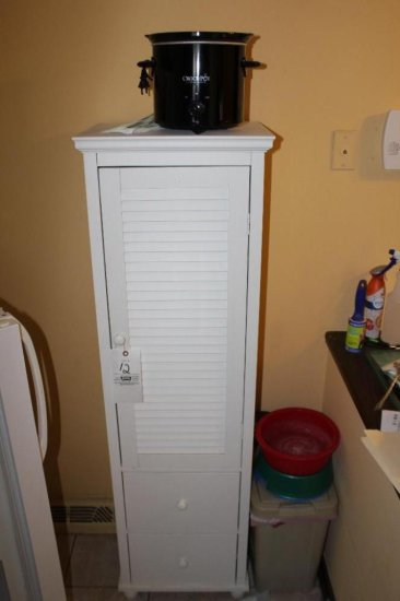 Crockpot, White Cabinet, Dog Dishes, Storage Container