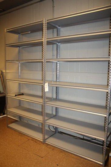 (2) Adjustable Metal Shelving Units