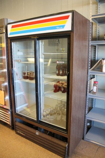 "True mod. GDM-41 glass-door refrigerator 48""wide"