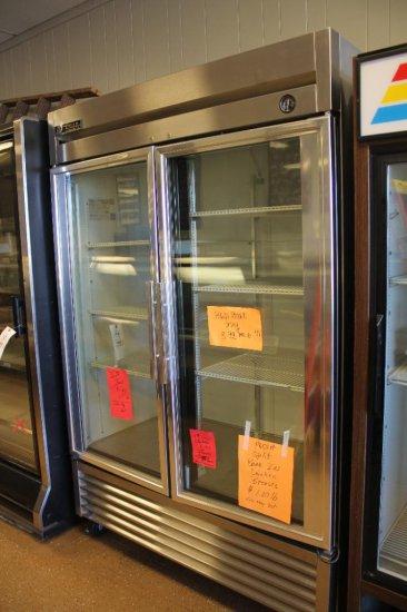 """True mod. T-49G, double glass-door refrigerator 54""""wide"""