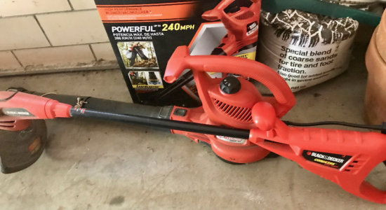 Black & Decker Cordless Weed Trimmer - Black & Decker Electric Blower and Extention Cord