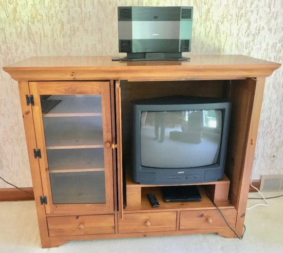 Samsung TV and Entertainment Center
