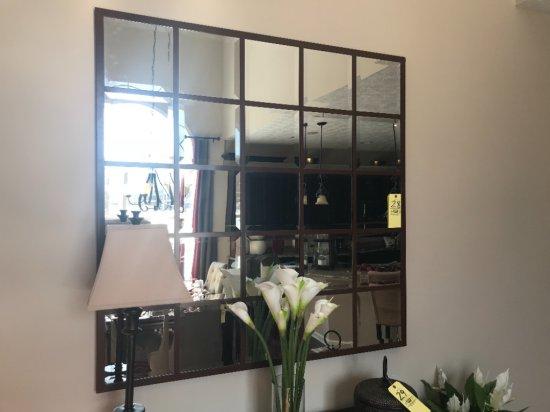 "50""x50"" 25-pannel metal framed mirror"