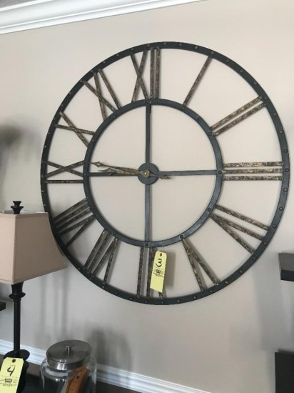"""Large industrial wall clock approx. 40"""""""