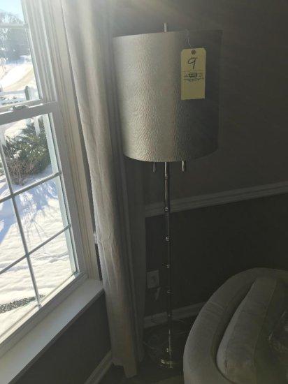 6' chrome floor lamp