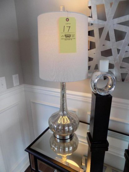 Mirrored glass table lamp