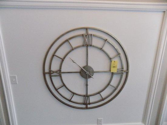 Large metal decor clock