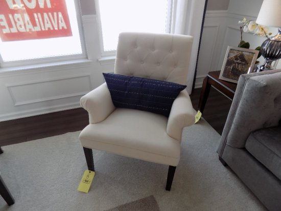 Coaster upholstered chair with accent pillow