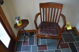 Oak Chair & Pedestal Table