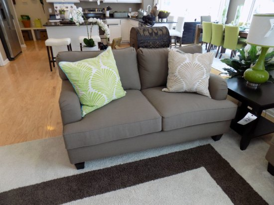 Two-Cushion Loveseat with Accent Pillows