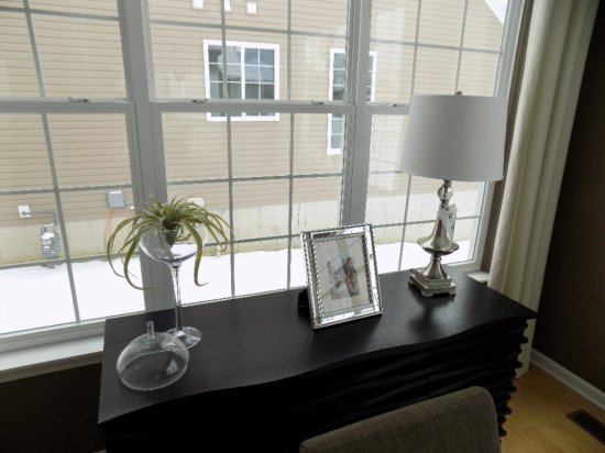 Table Lamp, Vase and Frame