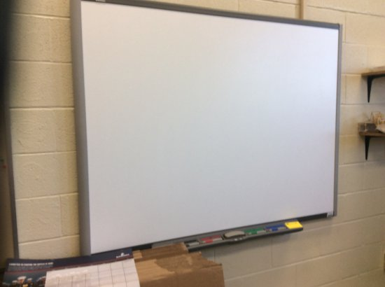 SmartBoard and overhead projector