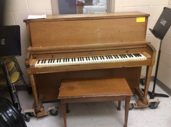 Hamilton upright piano with bench