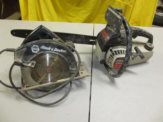 """Craftsman 16"""" Chainsaw, B&D Circular Saw"""