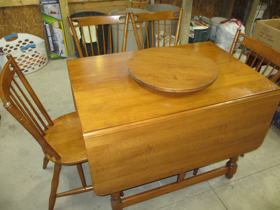 Maple Kitchen Table w/ 4 Chairs