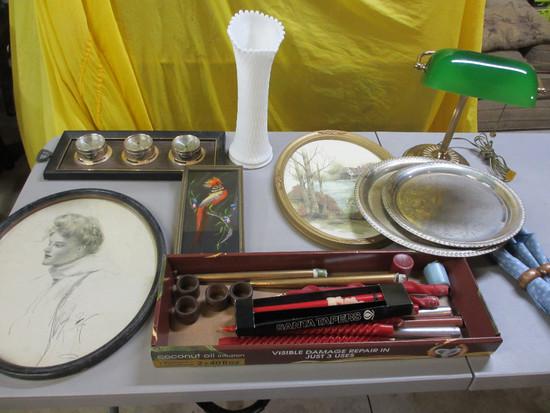 Silverplate, Lamp, Vase