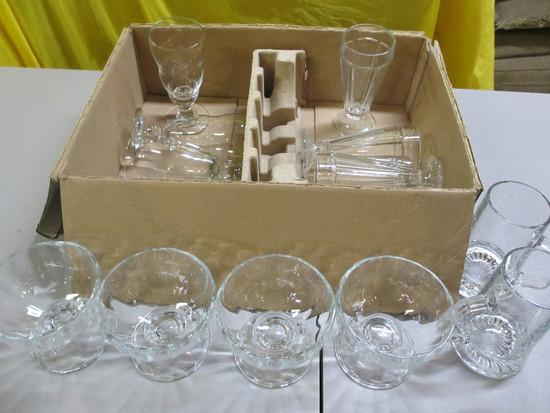 Glass Ice Cream Set