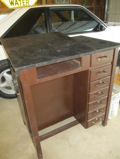 Old Wood Drafting Table