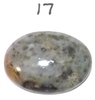 "Light Gray Spotted Jadeite Cabochon, 7 Grams, 1 1/8"" x 3/4"""